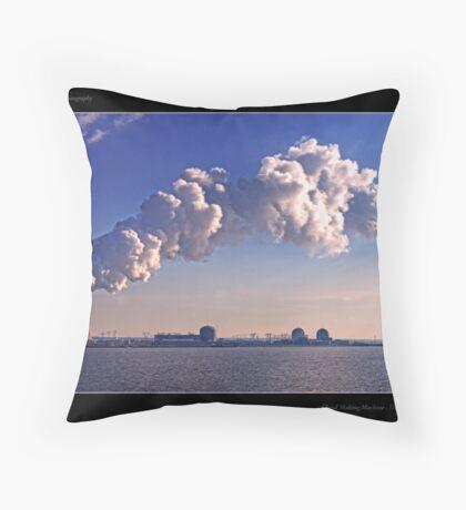 Cloud Making Machine Throw Pillow