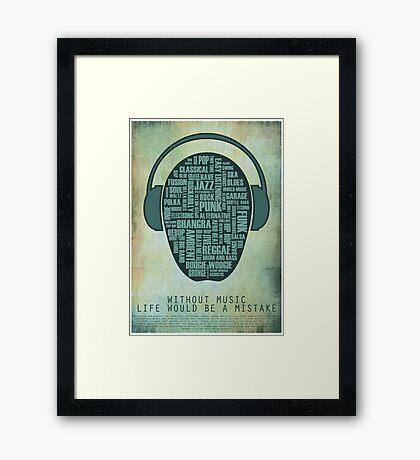 I love music redux Framed Print
