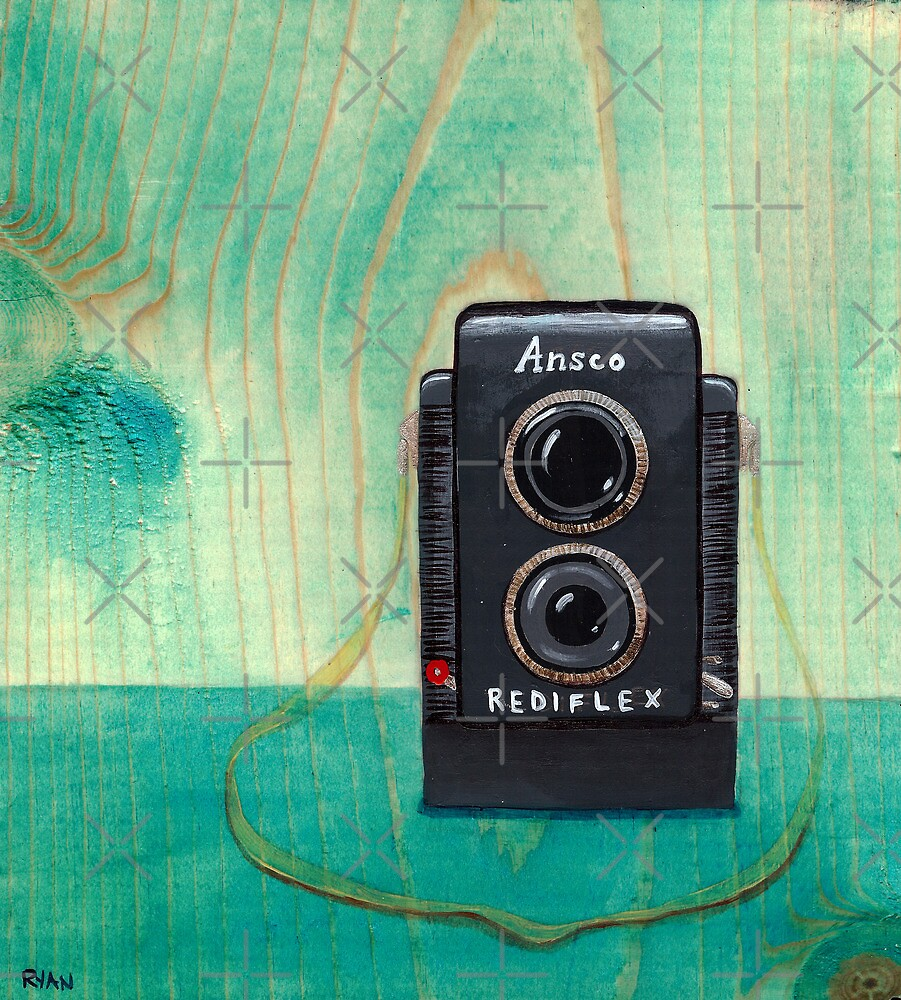 Ansco Camera Painting by Ryan Conners