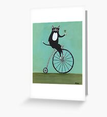 Lucky on a Bike Greeting Card