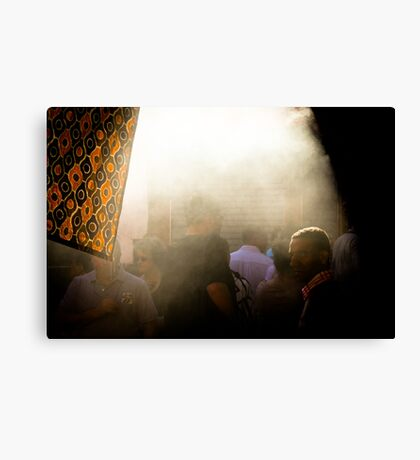 L'Arabe et la fumée Canvas Print