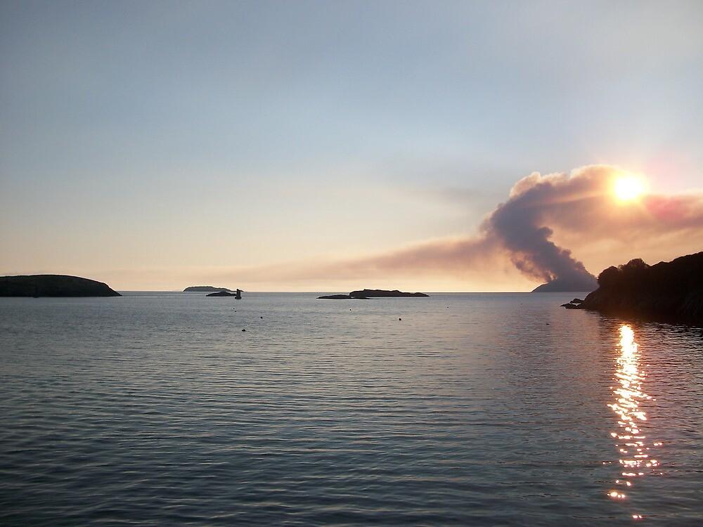 Scarriff Island, Heathland Burning,  by JaffaTorquay