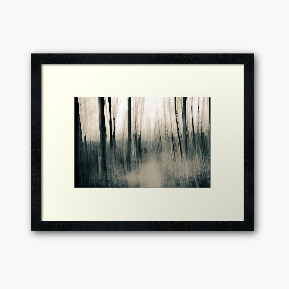 Turmoil surrounds us - an abstract expressionism Framed Art Print