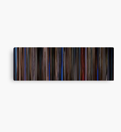 Moviebarcode: Three Colours: Blue (1993) Canvas Print