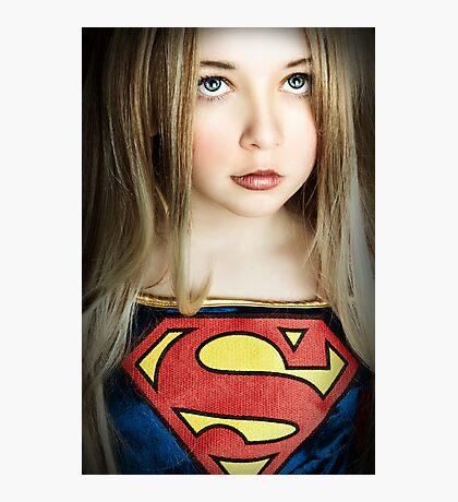 SUPER GIRL!!! Photographic Print