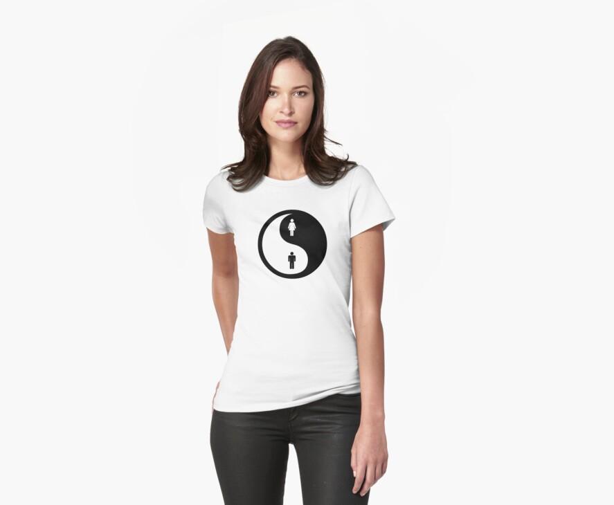 Yin Yang Man Woman by Denis Marsili