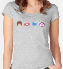 Fosters Home for Imaginary Friends - pixel pattern Fitted Scoop T-Shirt