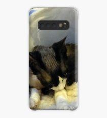 Devonshire cat asleep Case/Skin for Samsung Galaxy