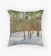 Frosty Day Throw Pillow