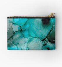 Mystic Water: Original Abstract Alcohol Ink Painting Zipper Pouch