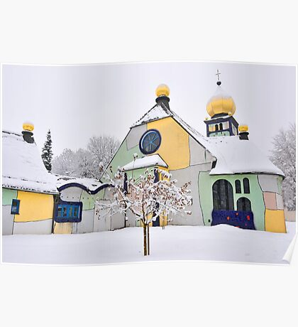 Hundertwasser Church Poster