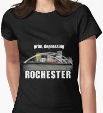Grim, depressing Rochester  Fitted T-Shirt