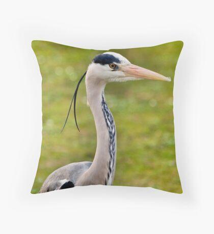 Grey Heron (HDR) Throw Pillow