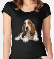 Basset Hound Women's Fitted Scoop T-Shirt