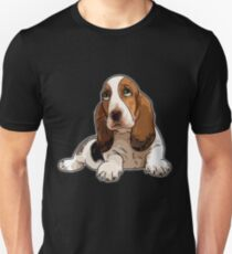 Basset Hound Slim Fit T-Shirt