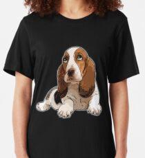 Basset Hound Slim Fit T-Shirt