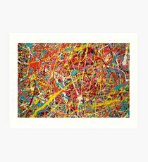 Moderne Abstrait Jackson Pollock Peinture Art Original intitulé: Changement Constant Impression artistique