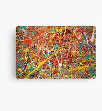 Modern Abstract Jackson Pollock Painting Original Art Titled: Constant Change Canvas Print