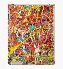 Modern Abstract Jackson Pollock Painting Original Art Titled: Constant Change iPad Case/Skin