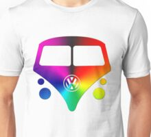 VW Bus hippie sunburst Unisex T-Shirt
