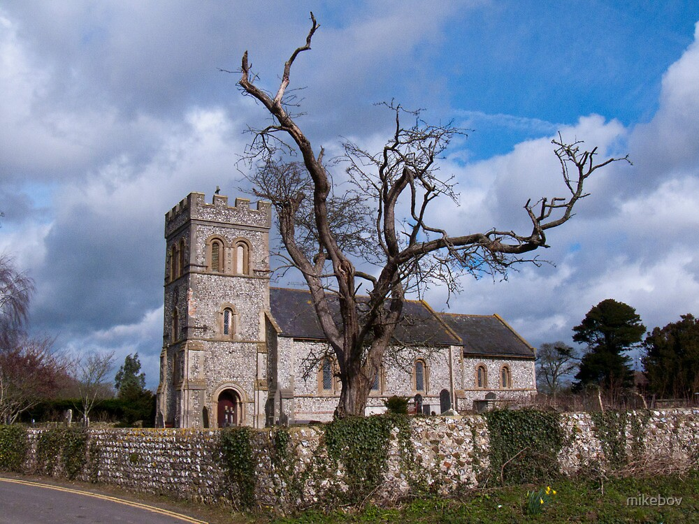 St Laurence Church Falmer by mikebov