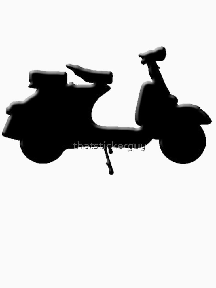 Vespa in black by thatstickerguy