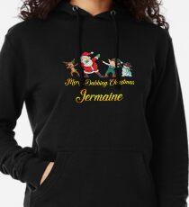 Jermaine Name - Dabbing Santa Claus Elf Reindeer Snowman -  Merry Dabbing Christmas Jermaine Lightweight Hoodie