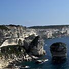 Limestone rocks of Bonifacio Corsica Island France by Alessandra Antonini