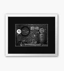 Route 66 Gas Station Memorabilia Framed Print