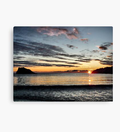 "Sunset "" Port Mora "" near Portpatrick Canvas Print"