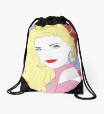 Mushroom Princess Drawstring Bag