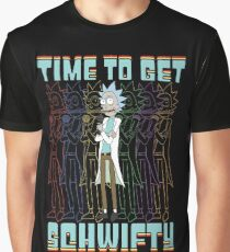 Time To Get Schwifty Rick and Morty Funny Schwifty Rick Shirt Gift Graphic T-Shirt
