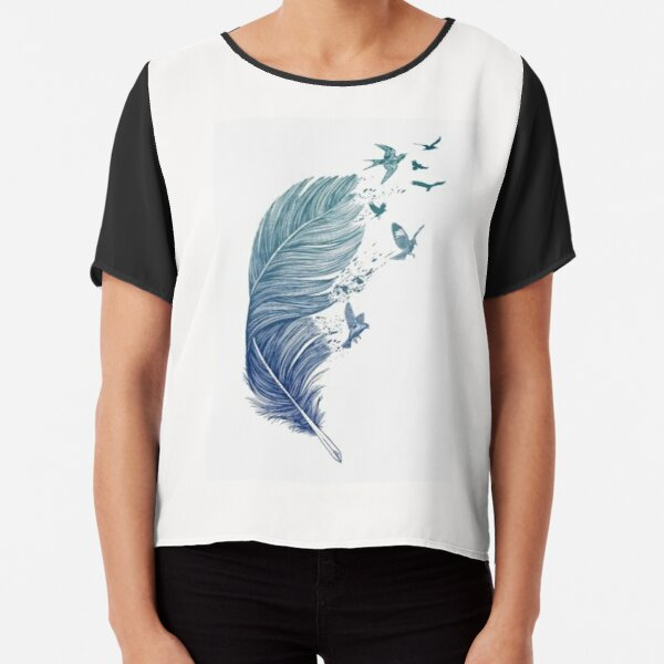 Enchanted feather Chiffon Top