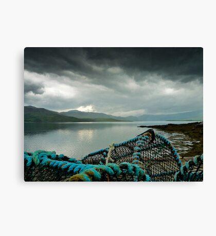 Lobster Pots at Loch Eriboll Canvas Print
