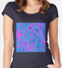 Abstraction Fitted Scoop T-Shirt
