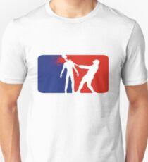 Zombie Down Baseball style T-Shirt