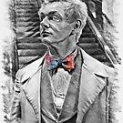 Aziraphale Sketch with Rainbow Bow Tie by orionlodubyal