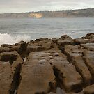 Split Rocks at Dusk - Casa Beach, CA by Anna Lisa Yoder