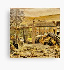 Exploring Yorkshire ~ Gayle Mill Canvas Print