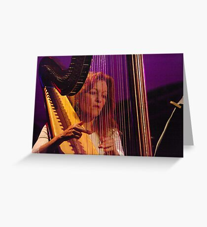 Harpist Greeting Card