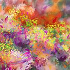 Colorful branch - purple, yellow, orange by Tummy Rubb Studio