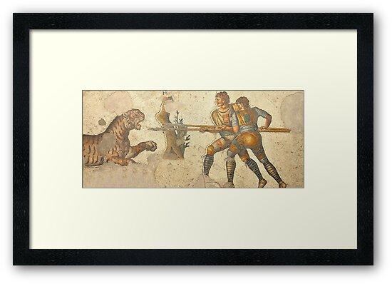 Legionaries fighting a tiger by neil harrison