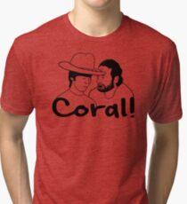 The Walking Dead- Coral Tri-blend T-Shirt