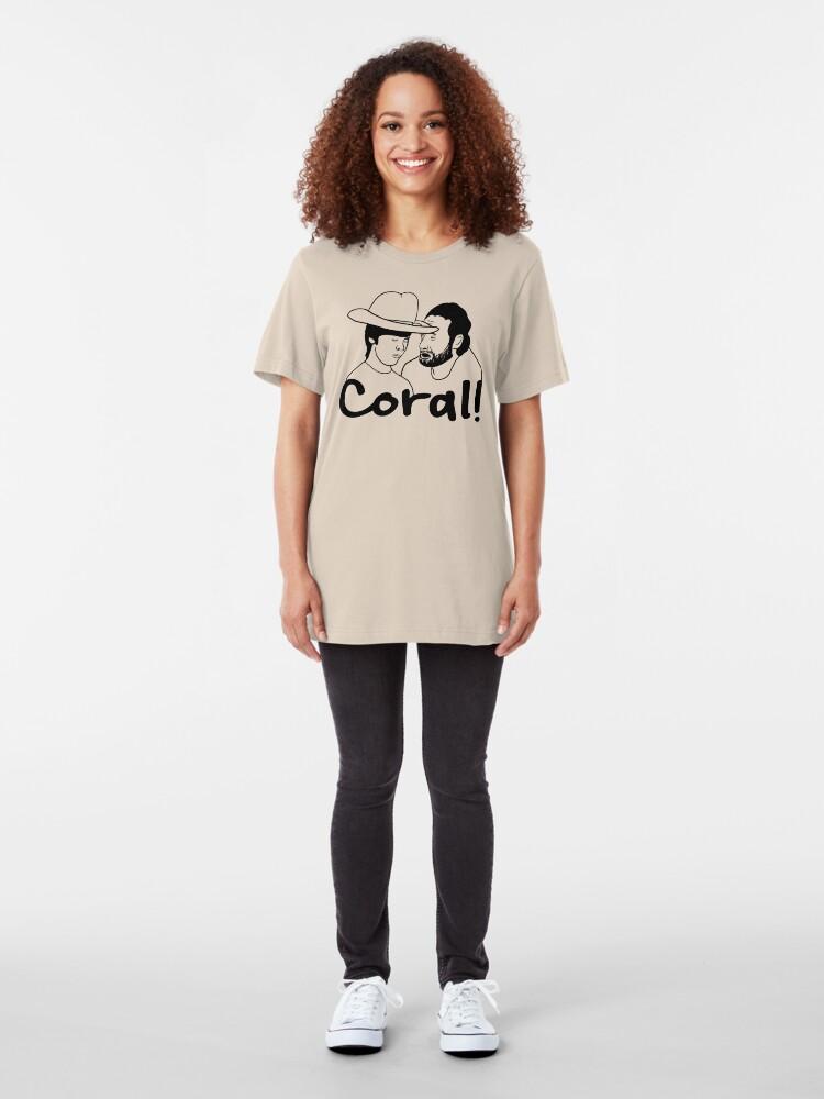Alternative Ansicht von Die gehende tote Koralle Slim Fit T-Shirt