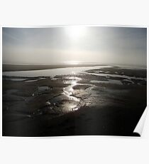 Morning Sun over the Beach at Skegness Poster