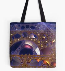 Construction Site at Night Tote Bag