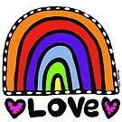 Love Rainbow Original Art by Jelene by Jelene
