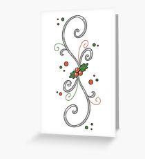 Holly Swirl Greeting Card