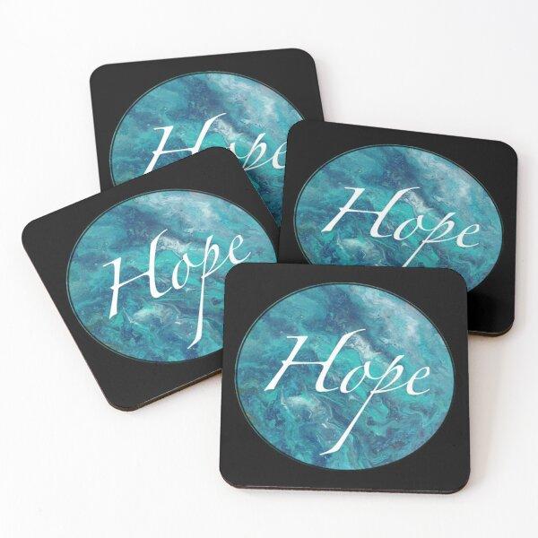Blue Orb, Hope Coasters (Set of 4)