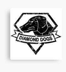 Diamond (Black) Canvas Print
